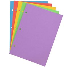 recipe refill pack - coloured paper