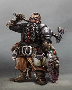 Ches Steelhands, Dwarven Cleric