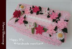 ボックスティッシュカバー&シュシュ*出品しました* Crochet Home, Crochet Baby, Free Crochet, Tissue Box Covers, Tissue Boxes, Tissue Paper, Crochet Designs, Crochet Patterns, Crochet Purses