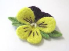 needle felted brooches - Google Search