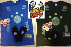 Fun- google for the power printable disks. Kids sport gloves if shopping in summer- I used fabric glue on gloves- he is thrilled to use his creature powers  Wild Kratt's Creature Power Costume - http://www.pbs.org/parents/crafts-for-kids/creature-power-costume/