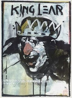 A disturbing poster for KING LEAR.