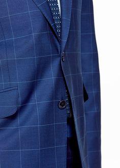 Mango: Check wool suit blazer