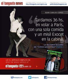 ★ TANGO ARGENTINO | JUAN CARLOS COPES ★ El Tangauta • Revista|Magazine #221 (ABR 13) Navegala en línea o descargala gratis | Surf it online or download it for free: eltangauta.com/