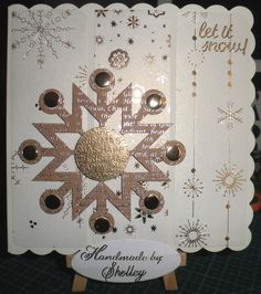Twinkle paper pack, large snowflake, greeting and candi by Craftwork Cards.