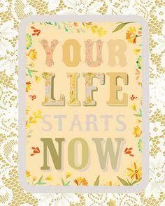 Optimism, Typography Print, Motivation