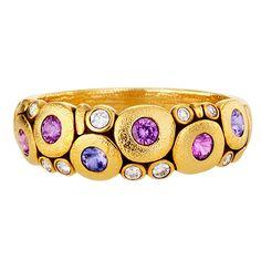 "Alex Sepkus 18K Sapphire and Diamond ""Candy"" Dome Ring  | eBay"