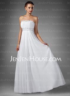 Evening Dresses - $133.99 - A-Line/Princess Sweetheart Sweep Train Chiffon  Charmeuse Evening Dresses With Ruffle  Beading (017004374) http://jenjenhouse.com/A-line-Princess-Sweetheart-Sweep-Train-Chiffon--Charmeuse-Evening-Dresses-With-Ruffle--Beading-017004374-g4374
