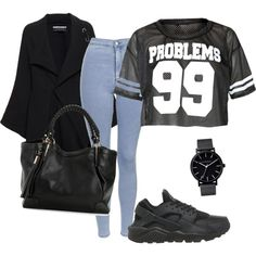 Get the London look by mariamakbbh on Polyvore featuring polyvore, fashion, style, Roland Mouret, Topshop, NIKE and The Horse