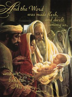 John 1:14 And the Word became flesh and dwelt among us, and we have seen his glory, glory as of the only Son from the Father, full of grace and truth.  John 1:14  Beginnings:  The Bible's Fantastic Four.