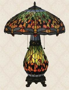 유 Illuminating Lamps 유  Tiffany dragonfly lamp
