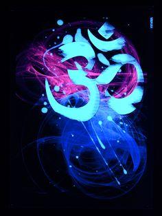 "PSYWORK Schwarzlicht Stoffposter Neon ""Om Goa Two Tone""  #psy #psywork #poster #blacklight #schwarzlicht #om #neon #glow #party #deko Goa Tattoo, Music Room Art, Psychedelic Music, Black Light Posters, Psy Art, Om Symbol, Glow Party, Yoga Art, Art Party"