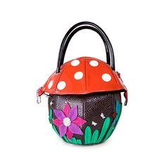38.00$  Buy here - https://alitems.com/g/1e8d114494b01f4c715516525dc3e8/?i=5&ulp=https%3A%2F%2Fwww.aliexpress.com%2Fitem%2F2015-new-cute-mushroom-bags-embossed-flower-handbags-ladies-handbag-travel-bag-change-bag-fashion-handbag%2F32503113102.html - 2015 new cute mushroom bags embossed flower handbags ladies handbag travel Creative Bags art fashion handbag