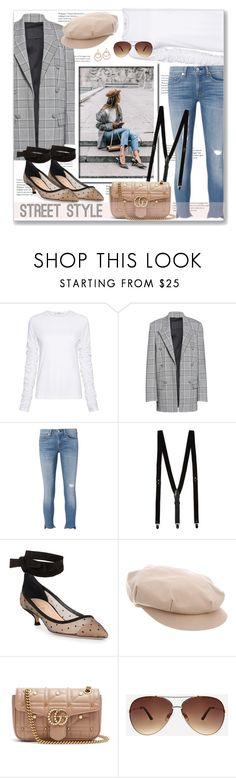 """""""Street Style"""" by leanne-mcclean ❤ liked on Polyvore featuring TIBI, Alexander Wang, rag & bone, Christian Dior, Burberry, Gucci and Ashley Stewart"""