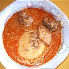 Fufu Allrecipes.com  /  try:  http://www.ghananation.com/recipes/Groundnut-Peanut-Soup.asp