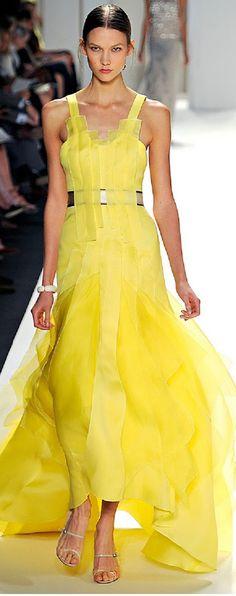 Carolina Herrera yellow evening gown