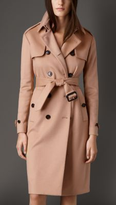 Long Double-Faced Cashmere Trench Coat