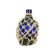 Pre-Owned Cobalt Blue Demijohn Bottle ($299) ❤ liked on Polyvore featuring home, home decor, decorative accessories, cobalt blue bowl, cobalt blue home accessories, cobalt blue home decor and cobalt blue bottles