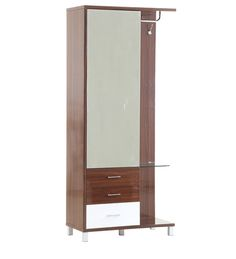 Addison New Dressing Table in Brown & White Colour by Evok