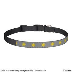Gold Star with Grey Background Dog Collar This design is available  on many products! Click the link and hit the 'Available On' button near the product description to see them all! Thanks for looking!  @zazzle #star #pattern #decor #home #design #dog #bed #pet #animal #friend #family #accessory #accessories #buy #sale #shop #shopping #owner #fun #sweet #fido #woof #awesome #cool #chic #modern #style #bed #collar #leash #bowl #tag #color #blue #navy #black #purple #orange #grey #gray #gold…