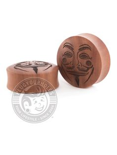 Description What is it? Carved in our PYH warehouse in Kansas City, MO, these plugs are made to order. Made with genuine wood from forests around the world. Terms By checking the box above, you are agreeing to the following -These plugs are sold in pairs. If you want 1 pair, please have quantity of 1 in your cart at checkout. -These plugs are made to order. Engraved Plugs take 1-2 weeks to make sometimes even up to 6 weeks. If there are any delays, you will be notified. This does not include shi Wood Plugs, Guy Fawkes, Ear Jewelry, Teak Wood, Kansas City, Tool Rack, Place Card Holders, Carving, Clay