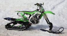 Timbersled's Mountain Horse kit converts motorbikes into snow machines By Ben Coxworth February 13, 2014 A Kawasaki KXF450 with the Mountain Horse Short Track kit