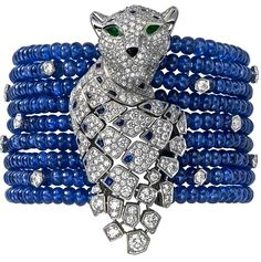 http://rubies.work/0842-ruby-pendant/ Cartier bracelet of Sapphire beads Diamond, Emerald & Onyx
