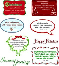Free Christmas sentiments for cards #holiday