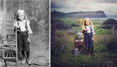 » Artista Convierte Fotografías Históricas en Coloridas Composiciones Surrealistas