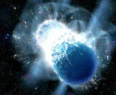 Collisions of neutron stars produce powerful gamma-ray bursts – and heavy elements like gold (Image credit: Dana Berry, SkyWorks Digital, Inc.)