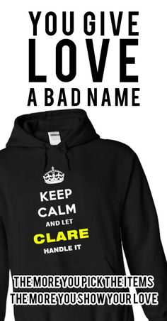 Keep Calm and let Clare Handle it