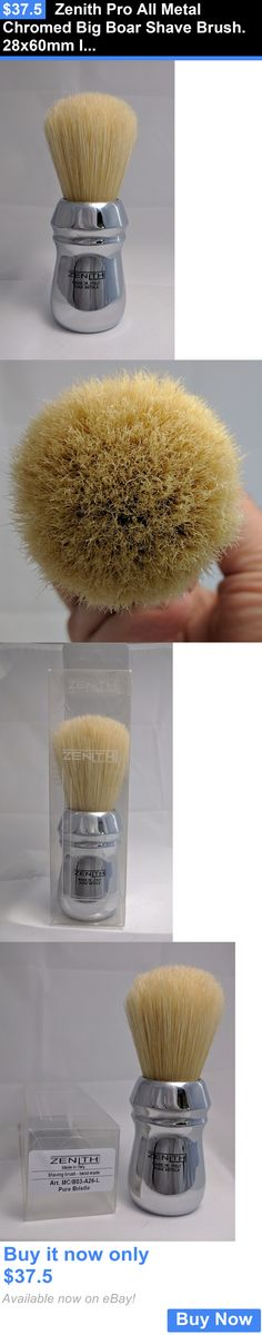 Shaving Brushes and Mugs: Zenith Pro All Metal Chromed Big Boar Shave Brush. 28X60mm Italy B20 BUY IT NOW ONLY: $37.5