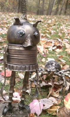 funny characters made with metal object Thomas Shelton 6