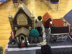 See an Entire Northern Ireland Village Knitted Out of Wool An incredible yarn from Cloughmills, County Antrim Textile Fiber Art, St Paddys Day, Knitting Supplies, Yarn Bombing, Soft Sculpture, Sculptures, Felt Fabric, Northern Ireland, Wool Felt