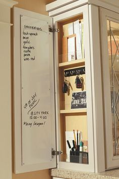 If everyone in your household is on the run, end your cabinet run with the Wall Message Center Cabinet, perfect for keeping busy families organized and on time every day.