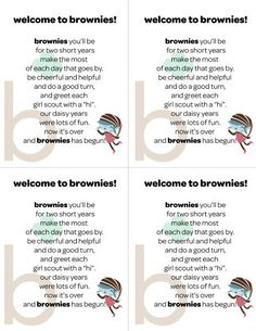 For Girl Scout Brownie Investiture: Print, cut, and glue to a box of brownies.