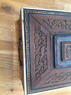 Beautiful Carved Antique Indian Carved Box