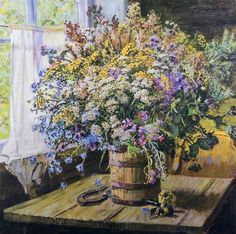 Герасимов Александр Михайлович (1881-1963) «Придорожные цветы» 1952