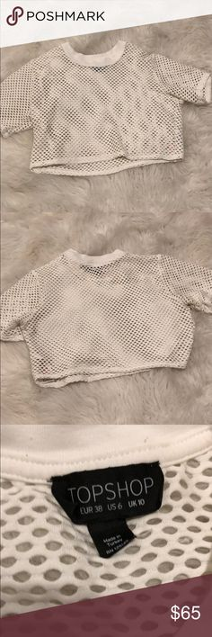 Topshop fishnet top Excellent condition Topshop Tops Crop Tops