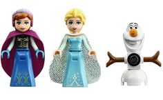 The inaugural 'Frozen' set features minifigures of Anna, Elsa, Olaf, along with a whole bunch of cold-climate amenities.