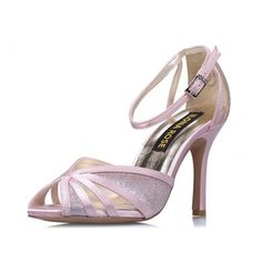 Women's Wedding Shoes Sandals Peep Toe Stiletto Heel Satin Shoes