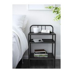 IKEA FYRESDAL bedside table Easy to move since the bedside table has castors.