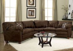 Colors That Go With A Chocolate Colored Couch | Brown Micro Suede Casual Sectional  Sofa W