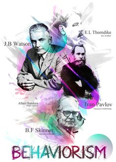 These are a few behavioral theorist's who's theory's have aided many in the realm of education in understanding ways in which behavior's are shaped.   An example of the founders of behaviorism.