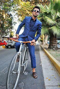 Blue suit.   #MensFashion #Style #Men