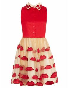 POUT FITTED POUF DRESS
