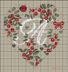 ru / Photo n ° 2 - Coeurs Alphabet - mornela Cross Stitch Alphabet Patterns, Embroidery Alphabet, Cross Stitch Letters, Just Cross Stitch, Cross Stitch Heart, Cross Stitch Samplers, Cross Stitch Designs, Cross Stitching, Cross Stitch Embroidery