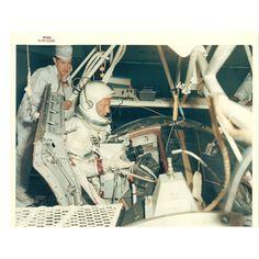 Photograph of Astronaut Buzz Aldrin Entering the 30' Altitude Chamber; 1958 - 1974