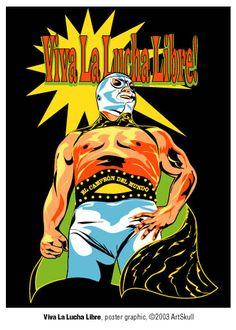 Viva La Lucha Libre - El Santo, Adobe Illustrator