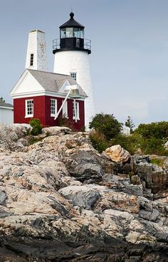 Pemaquid Light and Exposed Granite Bedrock, Pemaquid Point, New Harbor, Maine (7573) by John Bald, via Flickr